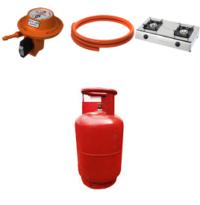 Image: Lpg regulator, pressure pipe and cooker