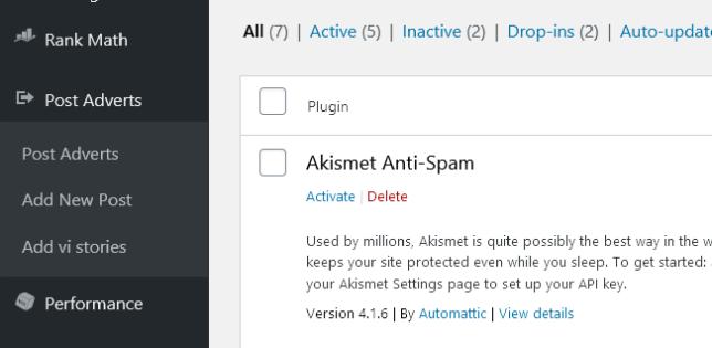 Insert post adverts options