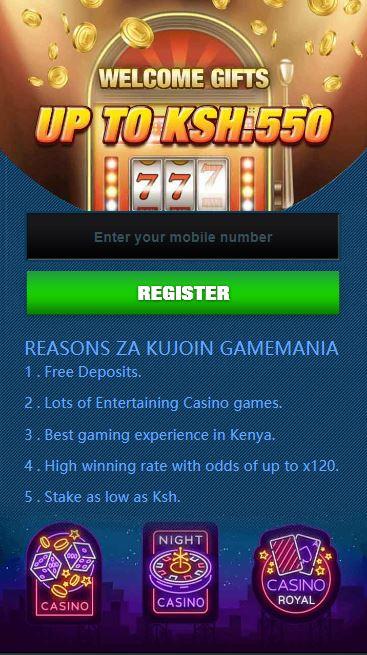 register on Gamemania