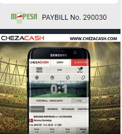 chezacash mpesa paybill number