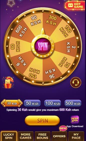 spin pesa spin wheel