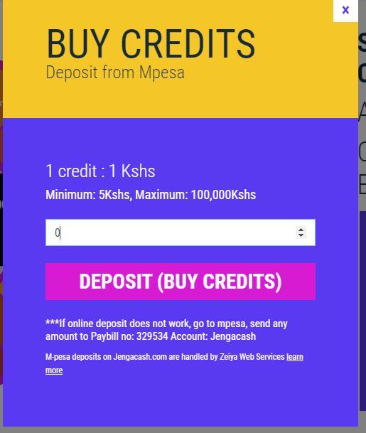 Enter amount to deposit