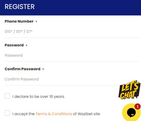registration on wazibet