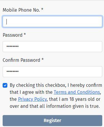 starbet registration page